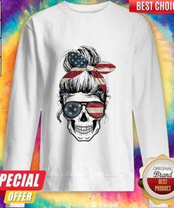 Independence Day Skull Lady America Sweatshirt