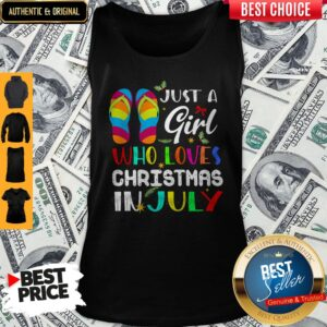 Just A Girl Who Loves Christmas In July Tank Top