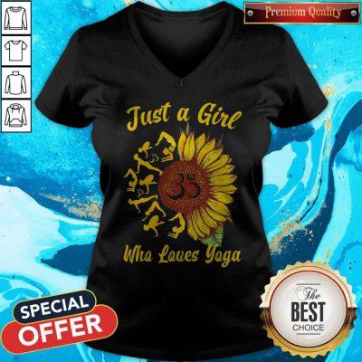 Just A Girl Who Loves Yoga And Sunflower V-neck