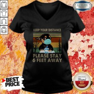 Keep Your Distance Chihuahua Vintage V-neck