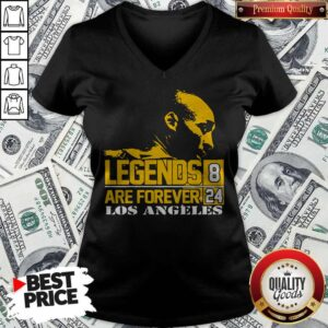 Kobe Bryant Legends Are Forever Los Angeles 8 24 V-neck