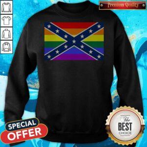 LGBT Confederate Flag Sweatshirt