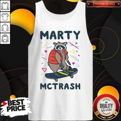 Marty Mctrash Raccoon Tank Top