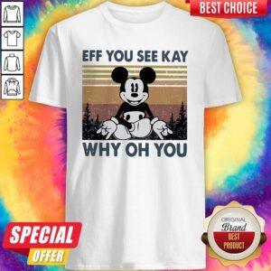 Mickey Mouse Yoga Eff You See Kay Why Oh You Vintage Shirt