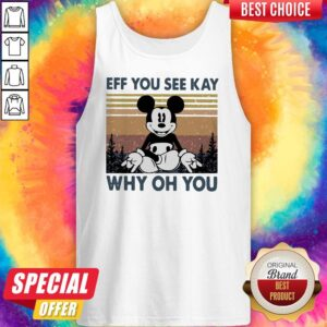Mickey Mouse Yoga Eff You See Kay Why Oh You Vintage Tank Top