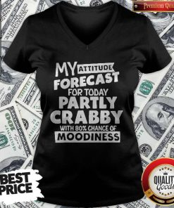 My Attitude Forecast For Today Party Crabby With 80′ Chance Of Moodiness V-neck