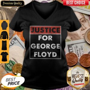 Official Justice For George Floyd V-neck