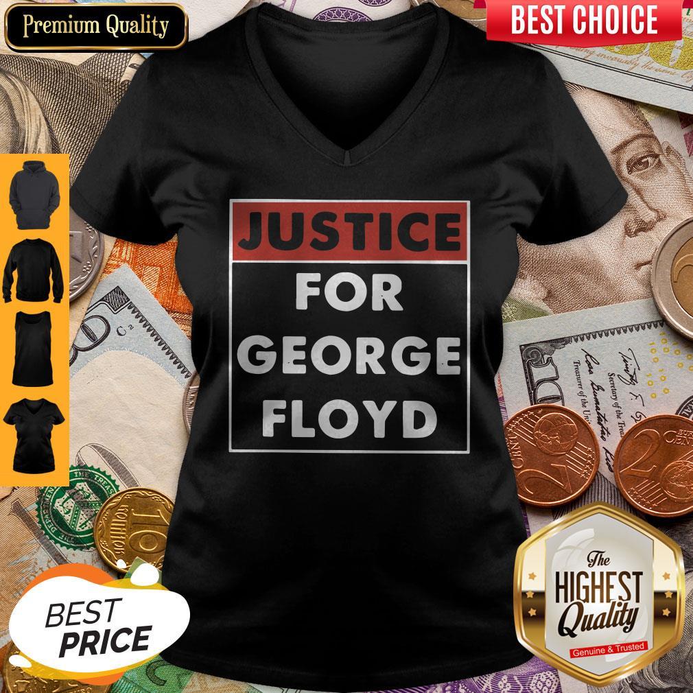 Official Justice For George Floyd V-neck