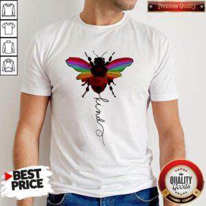 Official LGBT Bee Kind White Shirt
