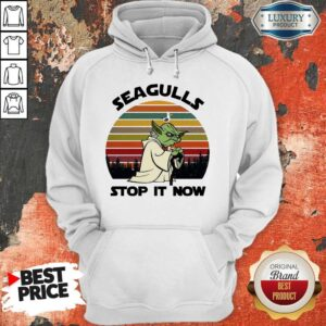Official Master Yoda Seagulls Stop It Now Vintage Hoodie