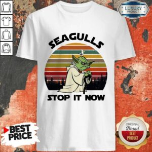 Official Master Yoda Seagulls Stop It Now Vintage Shirt