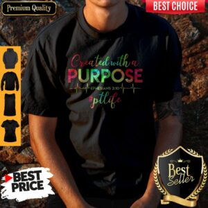 Physical Therapist Created With A Purpose Shirt