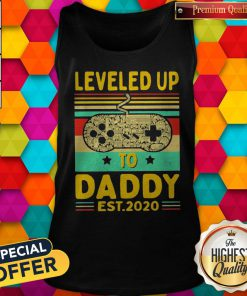 Play Game Leveled Up To Daddy Est 2020 Vintage Tank Top