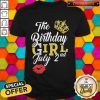 Queen Lip The Birthday Girl July 2nd Diamond Shirt