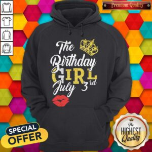 Queen Lip The Birthday Girl July 3rd Diamond Hoodie