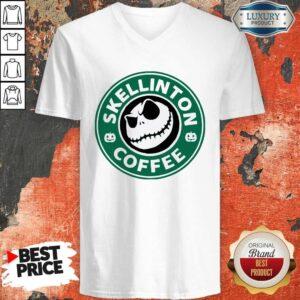 Skellington Coffee V-neck