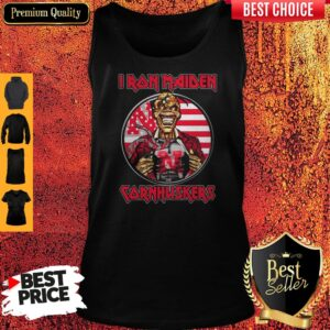 Skull Iron Maiden Nebraska Cornhuskers American Flag Independence Day Tank Top