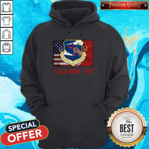Strategic Air Command Cold War Vet American Flag Hoodie