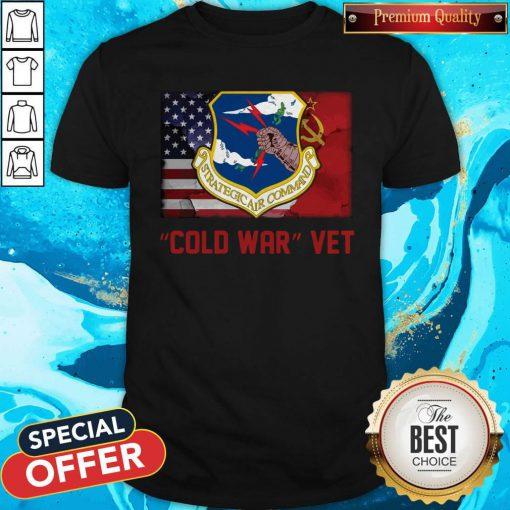 Strategic Air Command Cold War Vet American Flag Shirt