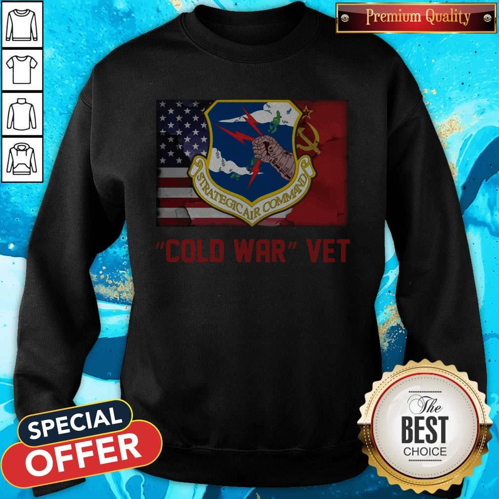 Strategic Air Command Cold War Vet American Flag Sweatshirt