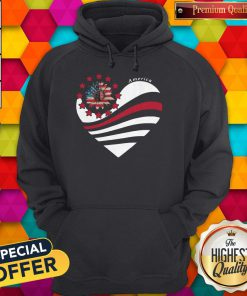 Sunflower Heart American Flag Independence Day Hoodie