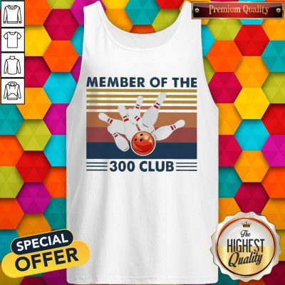 Bowling Member Of The 300 Club Vintage Tank Top