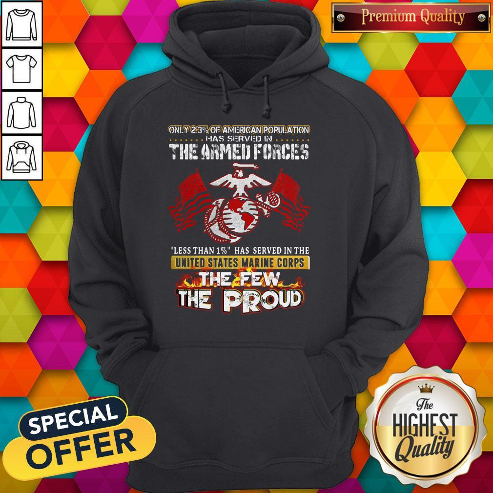 The Armed Forces The Few The Proud Fire Eagle Earth Flag Hoodie