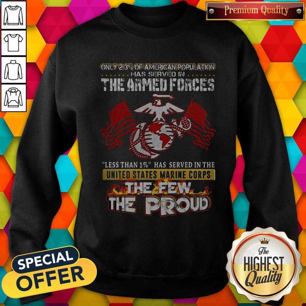 The Armed Forces The Few The Proud Fire Eagle Earth Flag Sweatshirt