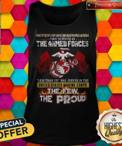 The Armed Forces The Few The Proud Fire Eagle Earth Flag Tank Top