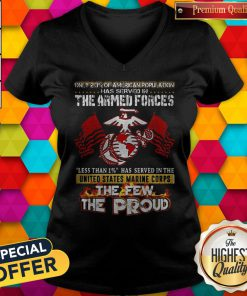The Armed Forces The Few The Proud Fire Eagle Earth Flag V-neck