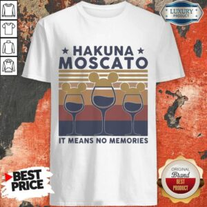 Wine Mickey Mouse Hakuna It Means No Memories Vintage Shirt