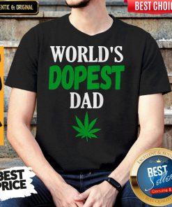 Worlds Dopest Dad Weed Marijuana Cannabis Leaf Shirt