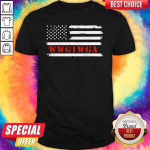 WWG1WGA Maga Donald Trump Flag Shirt