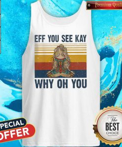 Yoga Eff You See Kay Why Oh You Vintage Tattooed Womens Tank Top