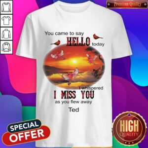 You Came To Say Hello Today I Whispered I Miss You As You Flew Away Ted Shirt