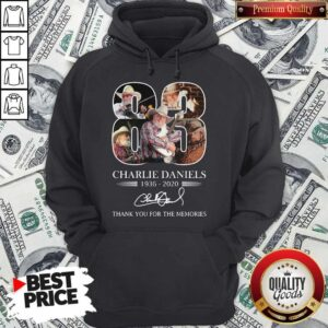 83 Charlie Daniels 1936-2020 Thank You For The Memories Signature Hoodie
