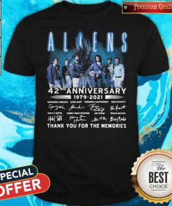 Aliens 42nd Anniversary 1979-2021 Signatures Thank You For The Memories Shirt