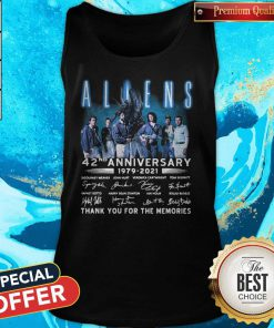 Aliens 42nd Anniversary 1979-2021 Signatures Thank You For The Memories Tank Top