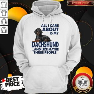 All I Care About Is My Dachshund And Like Maybe Three People Hoodie