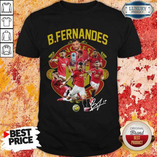 B.fernandes Manchester United Signature Shirt