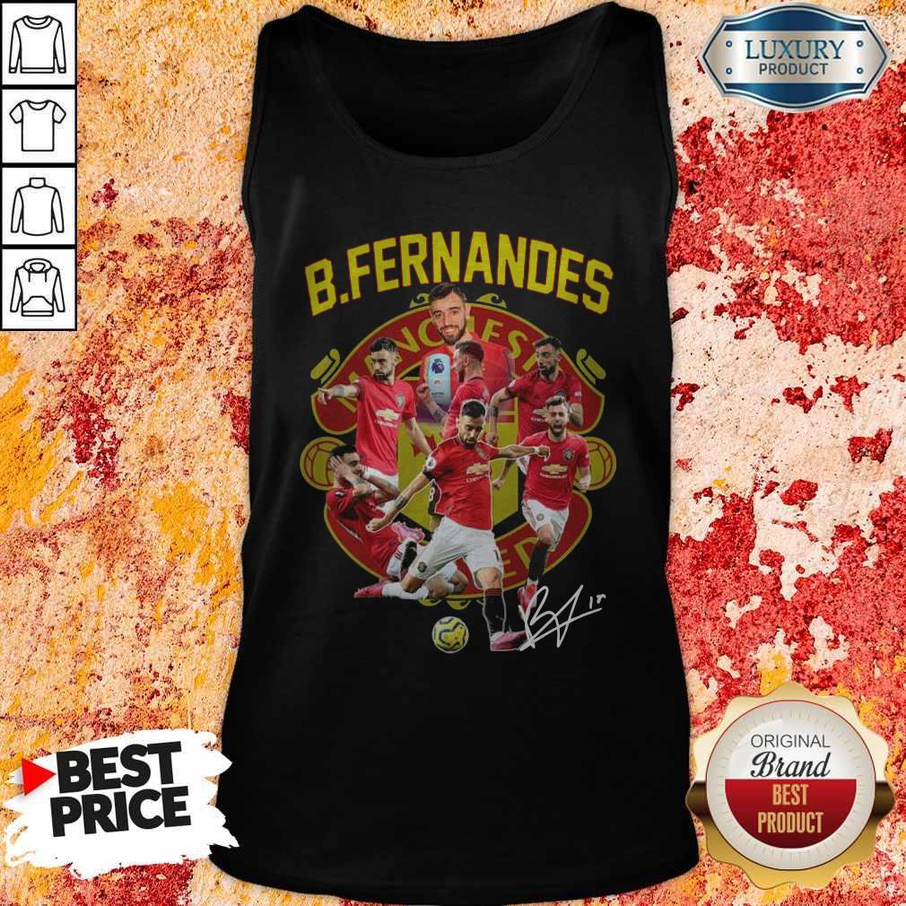B.fernandes Manchester United Signature Tank Top