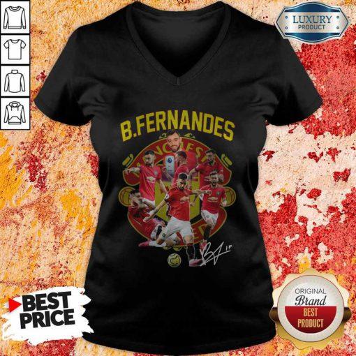 B.fernandes Manchester United Signature V-neck