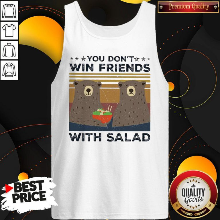 Bear You Don't Win Friends With Salad Vintage Tank Top
