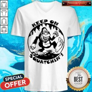 Bigfoot Mouse Pad Keep On Squatchin V-neck