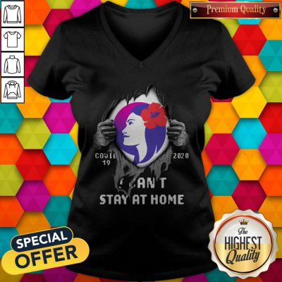 Blood Inside Me Hawaiian Airlines Covid-19 2020 I Can't Stay At Home V-neck