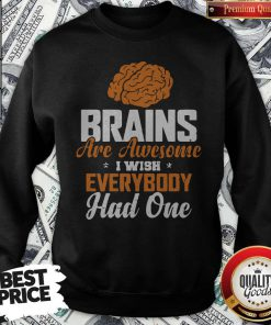 Brains Are Awesome I Wish Everybody Had One Sweatshirt