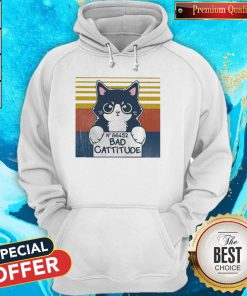 Cat Bad Cattitude No 86452 Vintage Hoodie