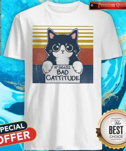 Cat Bad Cattitude No 86452 Vintage Shirt
