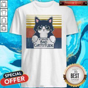 Cat Bad Cattitude No 86452 Vintage Shirt
