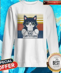 Cat Bad Cattitude No 86452 Vintage Sweatshirt